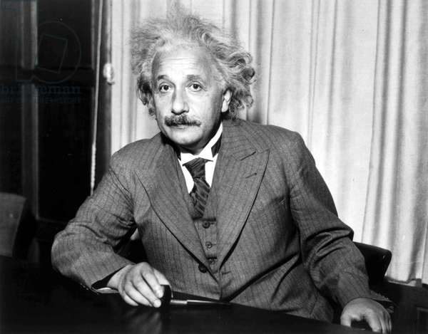 Albert Einstein (1879-1955) swiss physicist (German born) in 1933