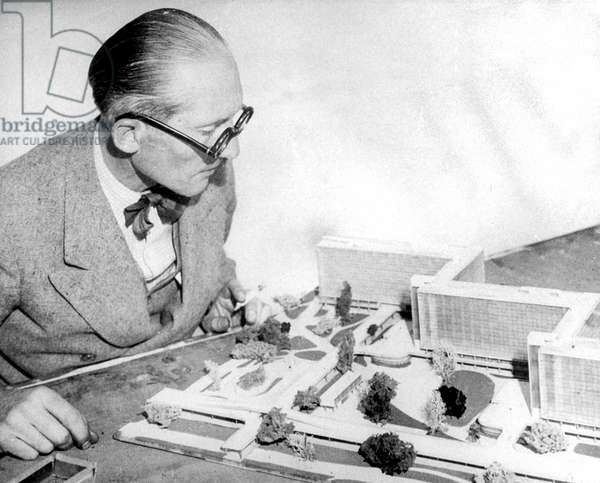 French architect Le Corbusier (1887-1965) here c. 1953