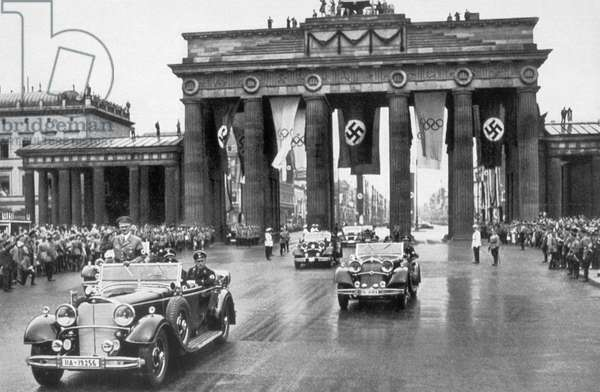 Adolf Hitler at the Brandenburg Gate in 1936