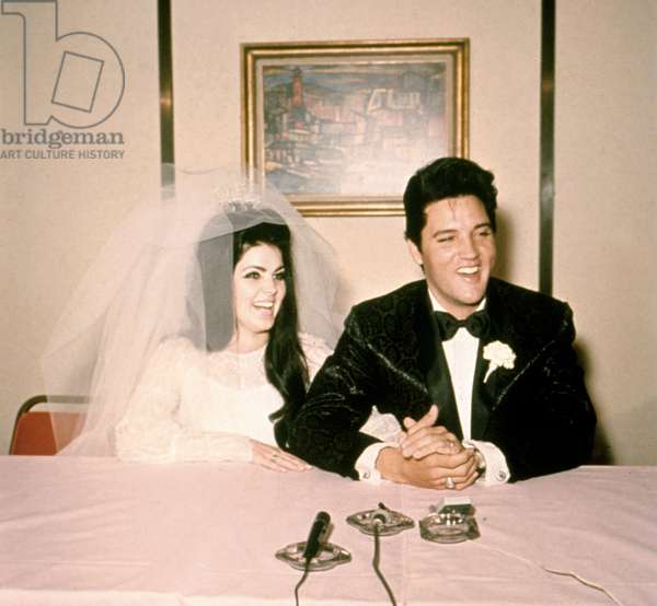 Wedding of Elvis Presley and Priscilla Beaulieu May 1, 1967 at the Aladdin Hotel in Las Vegas
