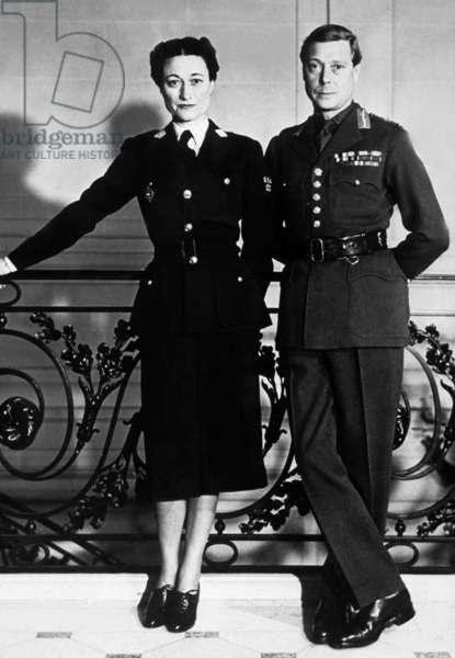 Duke Edward of Windsor (former King  EdwardVIII) and his wife duchess of Windsor (Wallis Simpson) in Paris, in 1939