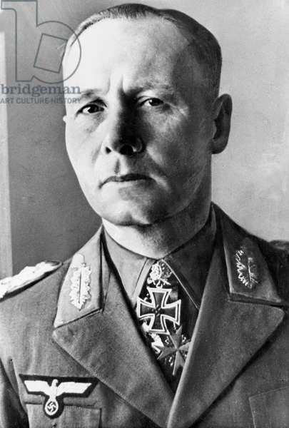 Erwin Rommel (1891-1944) chief General of Afrika Korps, 1941 (he's got Iron Cross)