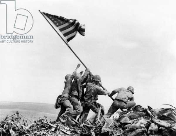 Raising the Flag on Iwo Jima, February 23, 1945