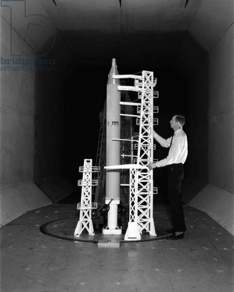 20/04/64 Titan with Gemini capsule in the Transonic Dynamics Tunnel.