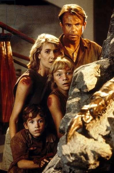 Jurassic Park de StevenSpielberg avec Sam Neill Laura Dern Joseph Mazzello et Ariana Richards 1993 (d'apres MichaelCrichton)