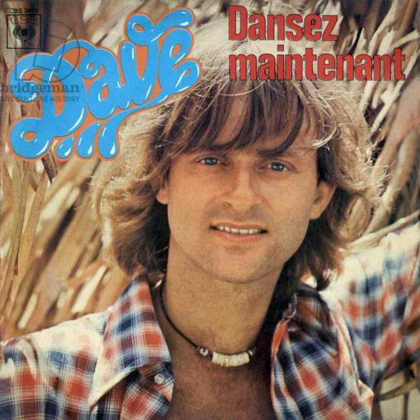 Dutch singer Dave (by his real name Wouter Otto Levenbach) 45 rpm vinyl record sleeve