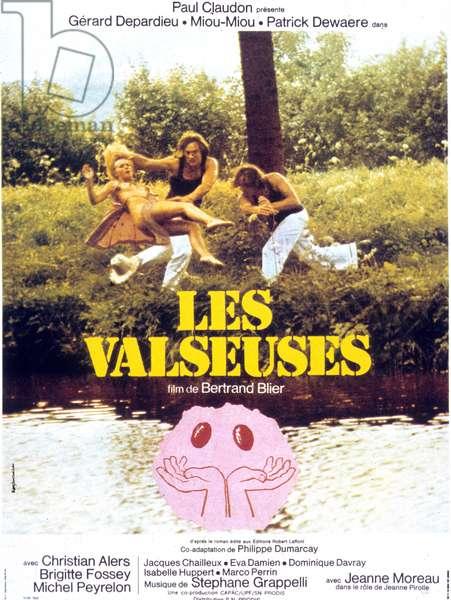 l Affiche du film Les valseuses de BertrandBlier avec Patrick Dewaere , Miou Miou et Gerard Depardieu 1974