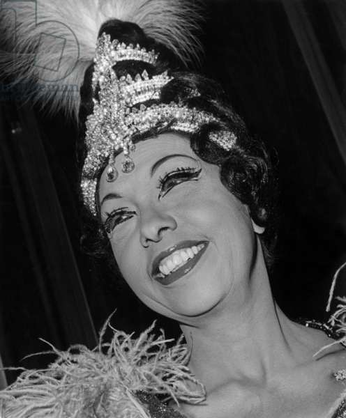 Josephine Baker at a gala in Amsterdam on October 5, 1964