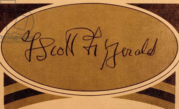 Signature of American writer Francis Scott Fitzgerald (1896-1940) ecrivain americain