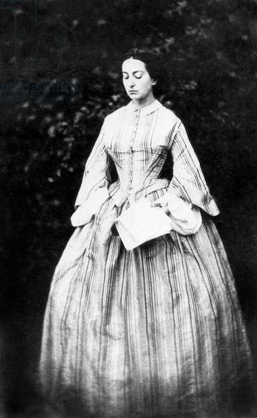 Adele Hugo (1830-1915), daughter of Victor Hugo, c. 1855