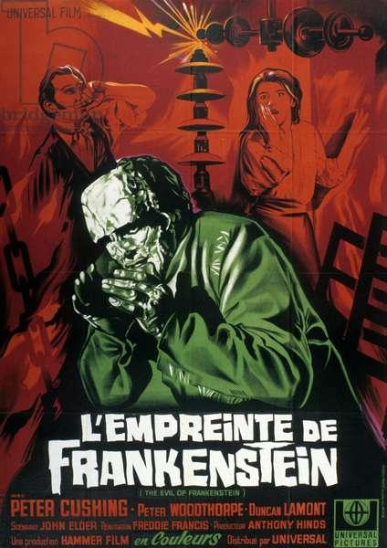 L'empreinte de Frankenstein (The Evil of Frankenstein) de FreddieFrancis avec Kiwi Kingston et Peter Cushing 1964