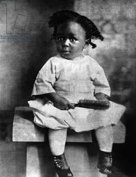 American saxophonist and jazz composer Charlie Parker (1920-1955) as a child c. 1922