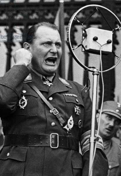 Hermann Goering during a speech in Vienna, 1932