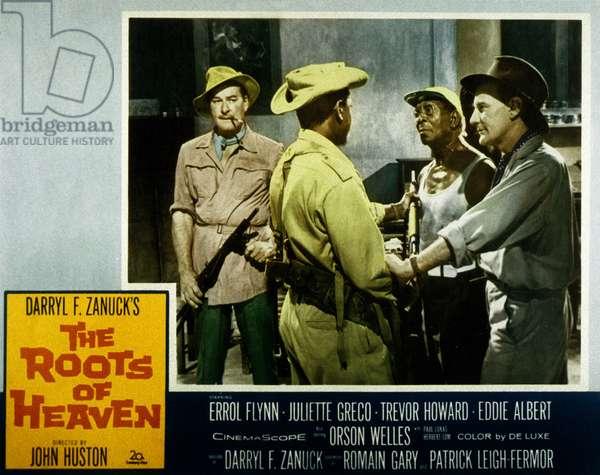 Les Racines du Ciel THE ROOTS OF HEAVEN de JohnHuston avec Trevor Howard et Eddie Albert Errol Flynn 1958 (d'apres Romain Gary, aka Emile Ajar)