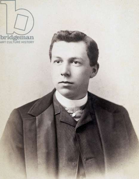American architect Frank Lloyd Wright (1867-1959)as a young man, Madison, Wisconsin, 1885
