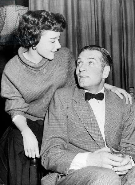 Dorothy Tutin and Laurence Olivier on April 9, 1957