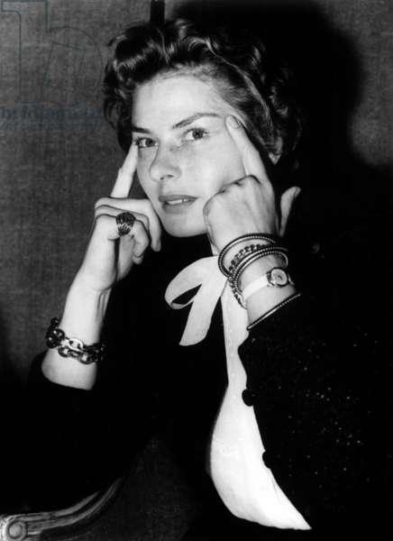Actress Ingrid Bergman in 1954