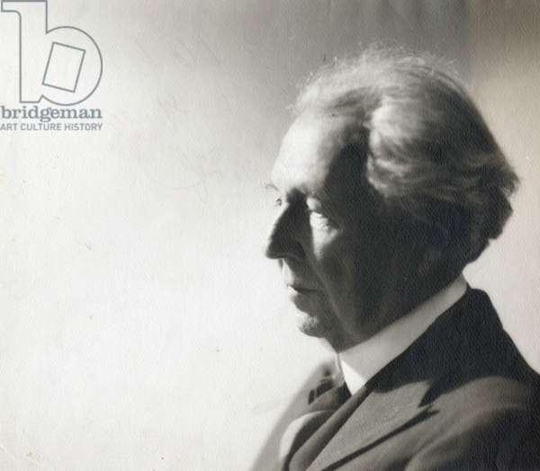 American architect Frank Lloyd Wright (1867-1959) c. 1950