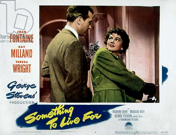 Affiche du film Something to live for de GeorgesStevens avec Ray Milland et Joan Fontaine 1925