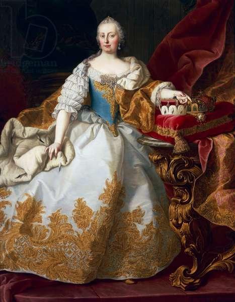 Maria Theresa, Empress of Austria, 1744 (oil on canvas)