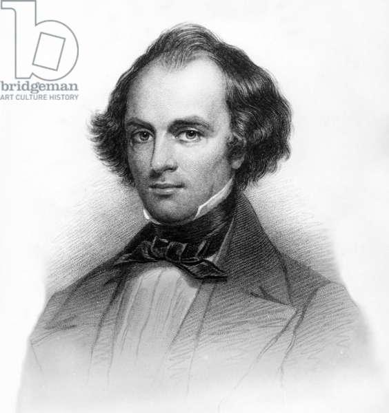 Nathaniel Hawthorne (1804-1864) American writer, engraving