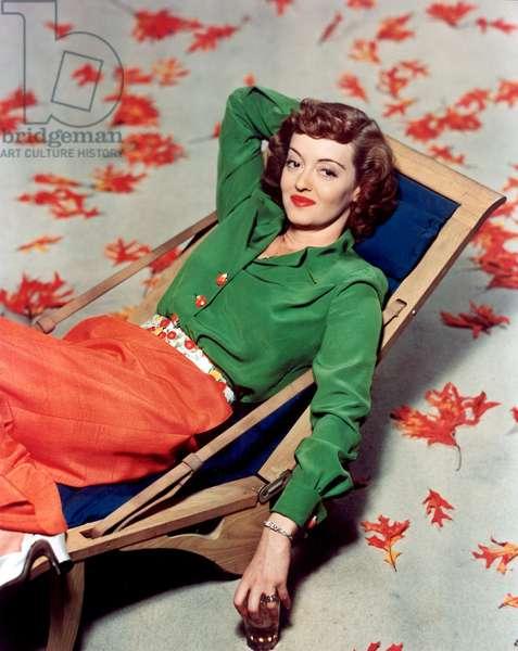 American Actress Bette Davis (1908-1989) c. 1943