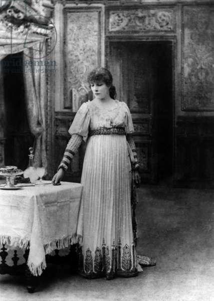 "Sarah Bernhardt (1844-1923) in Paris, 1887, in the title role of Victorien Sardou's play ""La Tosca"""