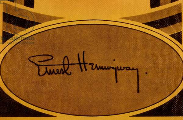 Signature of Ernest Hemingway (1898-1961) American writer