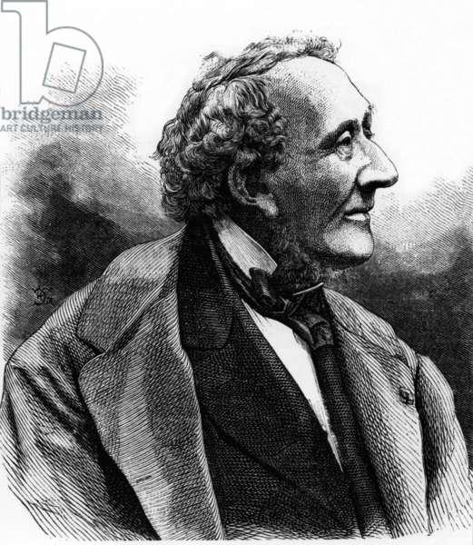 Hans Christian Andersen (1805-1875) danish writer, engraving