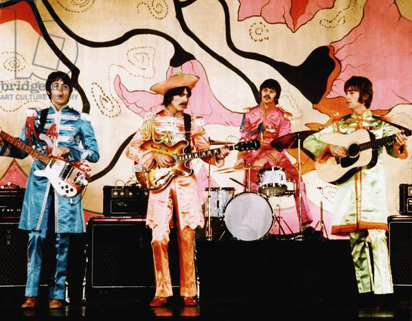 The Beatles during Sgt Pepper's Lonely Hearts Club Band tour The uniforms and artwork on this album were to become cultural and social icons of the era