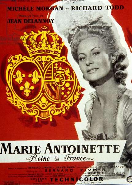 Affiche du film Marie Antoinette reine de France de JeanDelannoy avec Michele Morgan en 1956
