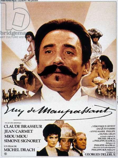 Affcihe du film Guy de Maupassant de Michel Drach avec Claude Brasseur (Guy de Maupassant) 1982