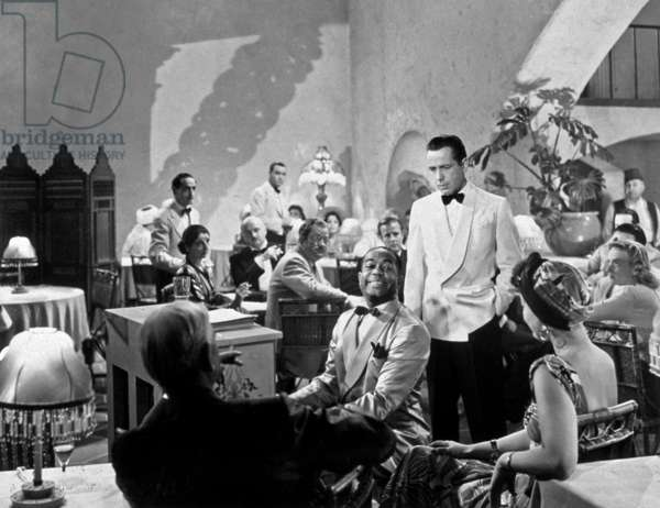 Casablanca de MichaelCurtiz avec Humphrey Bogart et Dooley Wilson (au piano) 1942 Oscar1943