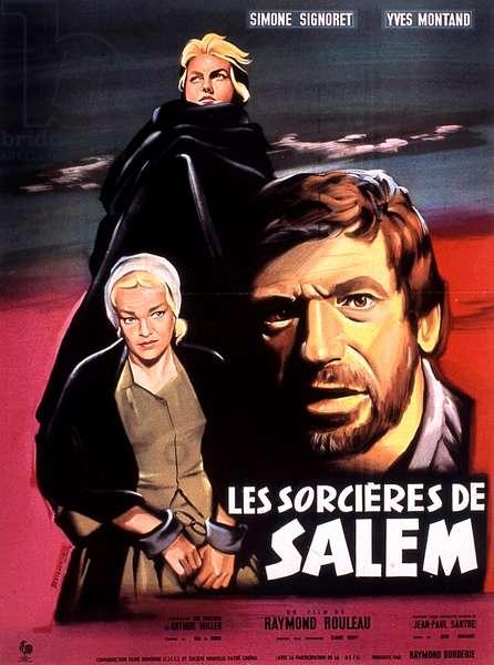 affiche du film Les sorcières de Salem de RaymonDrouleau avec Simone Signoret, Yves Montand 1957