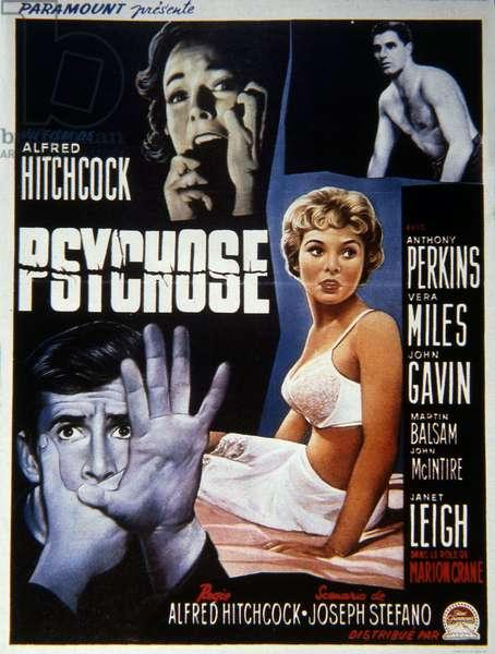 Psychose Psycho de AlfredHitchcock avec Janet Leigh, 1960