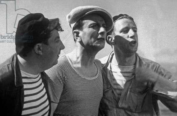 Un de la Canebiere de Rene Pujol avec Henri Alibert (au milieu), Rellys (d), 1938.