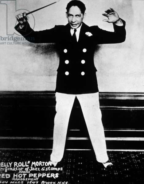 Jelly Roll Morton (1885/1890-1941, real name Joseph Ferdinand Lamothe) in 1920