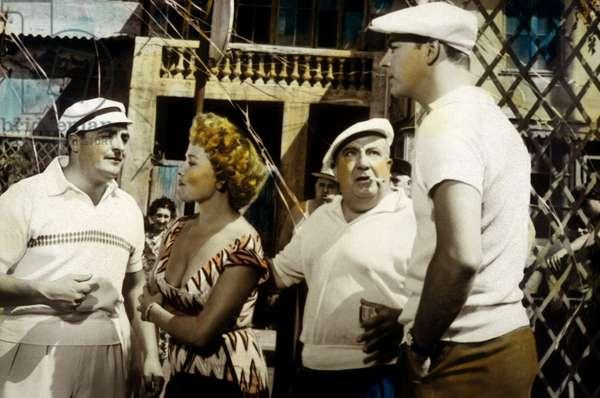 Trois de la Canebiere de Maurice de Canonge avec Henri Genes, Jeannette Batti, Marcel Merkes (d), 1956.