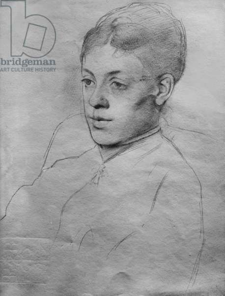 Drawing by Edgar Degas (1834-1917), French painter and sculptor. Mlle Malo, c.1877.