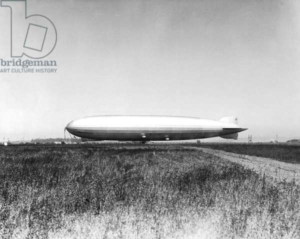 The Graf Zeppelin (LZ 127), German dirigible lauched on September 18, 1928, it was the 1st dirigible to make a world tour