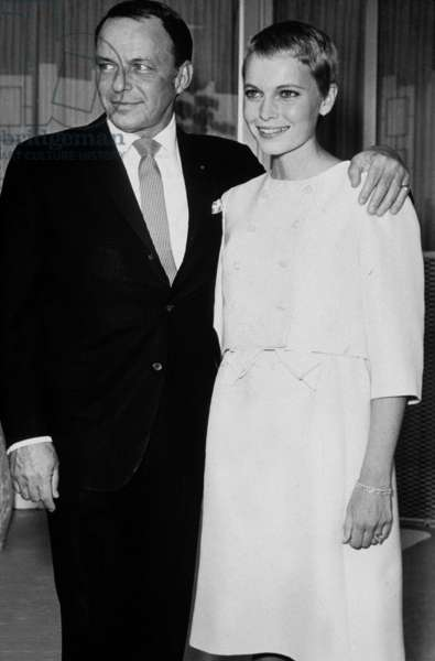Wedding of Frank Sinatra and Mia Farrow at Sands Hotel, Las Vegas, July 19, 1966