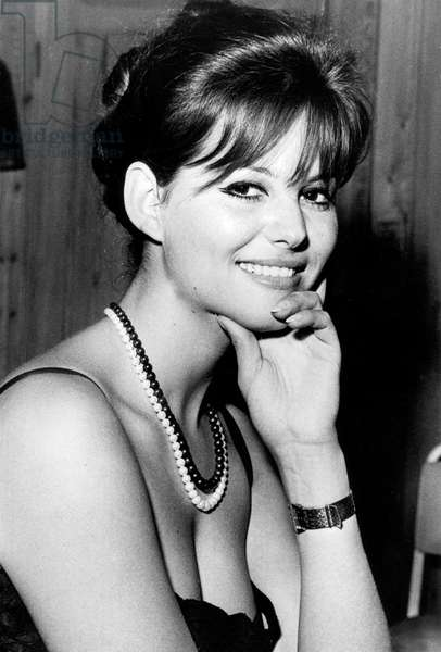 Claudia Cardinale during Cannes film festival in 1963