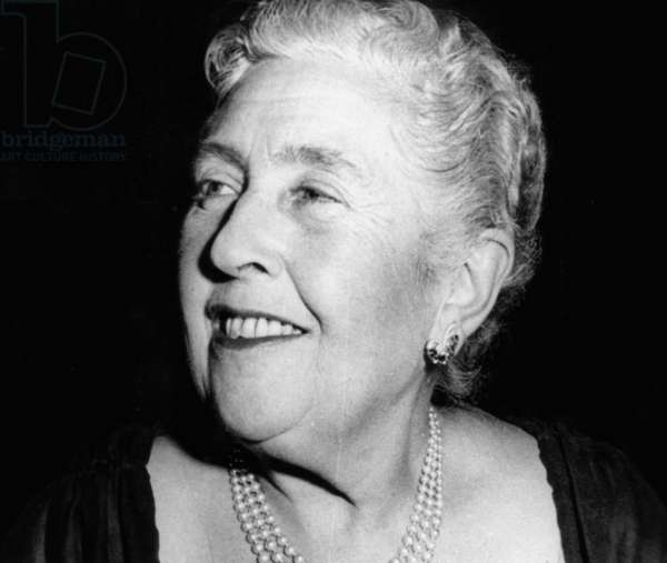 Writer Agatha Christie on March 30, 1962