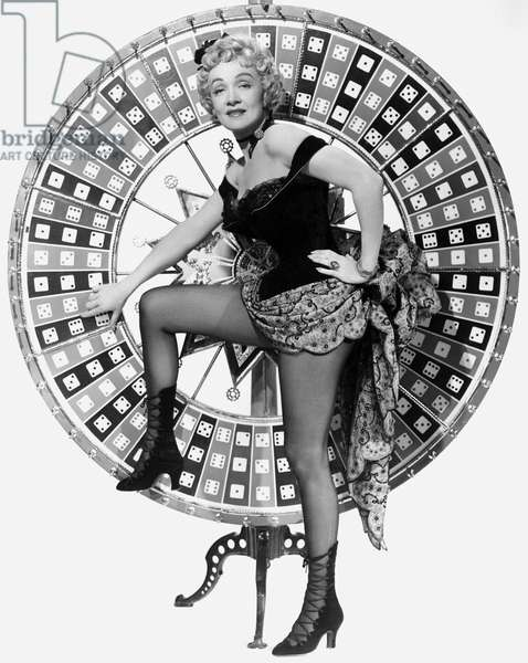 Marlene Dietrich promotional photo for film Rancho Notorious 1952