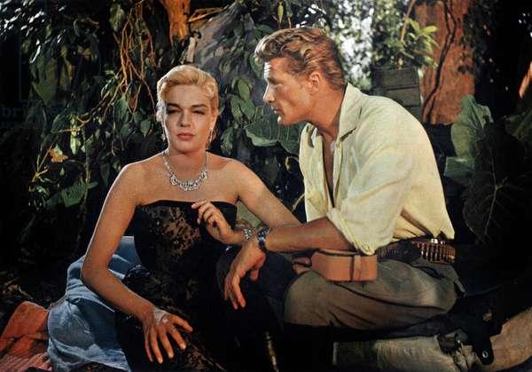 Mort dans le jardin de Luis Bunuel avec Simone Signoret, Georges Marchal, 1956.