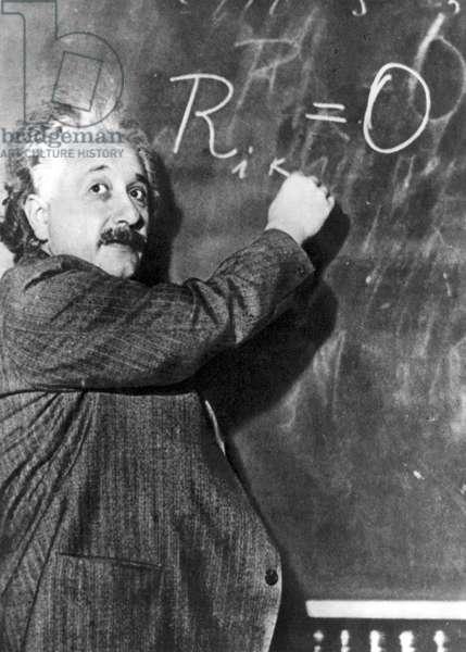 Albert Einstein(1879-1955) swiss (German-born) theoretical physicist, January 14, 1931