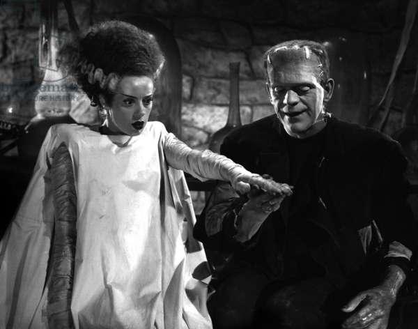 La fiancee de Frankenstein The Bride of Frankenstein de JamesWhale avec Elsa Lanchester, Boris Karloff, 1935