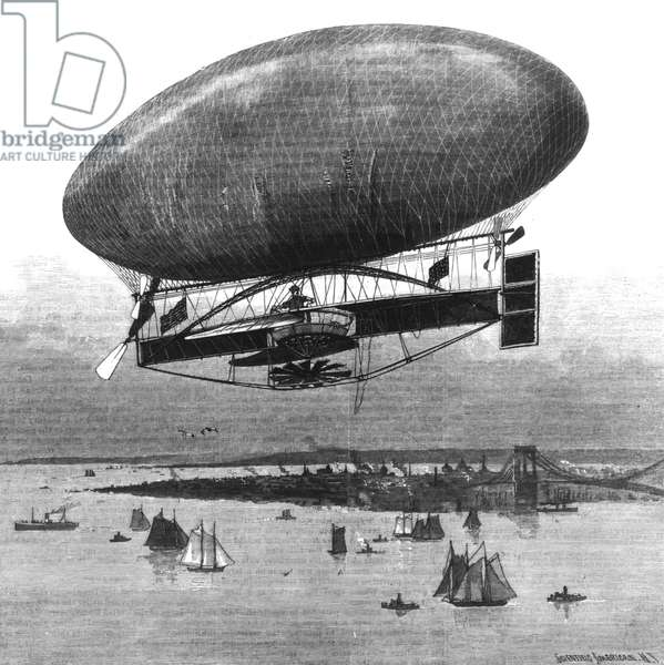 Dirigible Combell over New York c. 1910