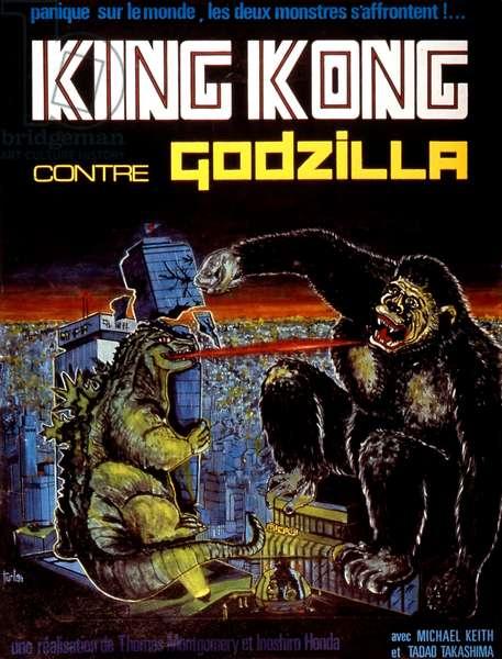 Affiche du film King-Kong contre Godzilla de iShiroHonda 1963