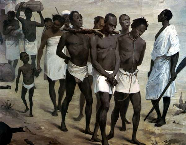 Convoy of Slaves in Africa, before 1878 (oil painting)